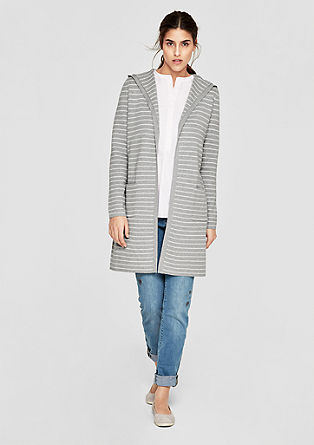 Long cardigan with stripes from s.Oliver