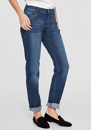 Smart Straight: Jeans with studs from s.Oliver