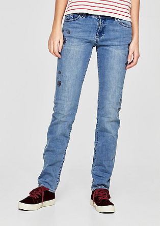 Shape Slim: Jeans with gemstones from s.Oliver