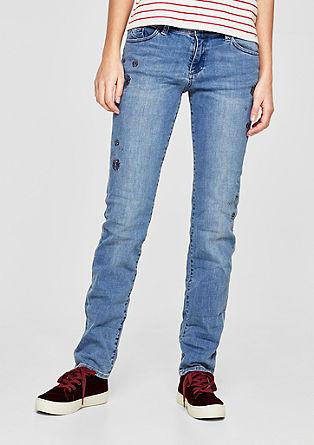 Shape Slim: jean orné de pierres fantaisie de s.Oliver