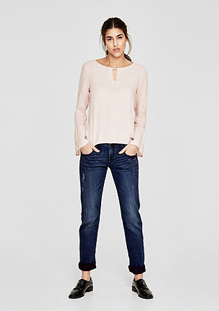 Shape Slim: jeans with appliqués from s.Oliver