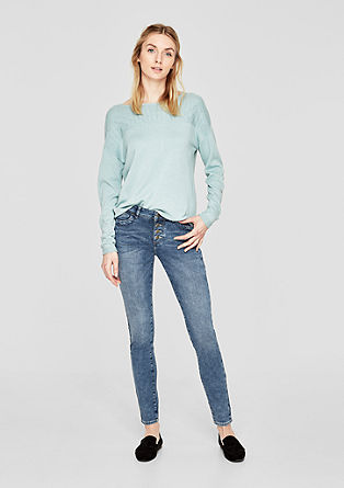 Shape Superskinny: Button Fly-Jeans