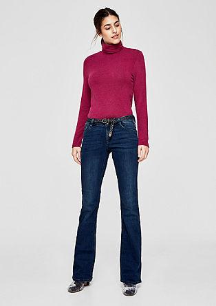 Shape Bootcut: Jeans mit Flechtgürtel