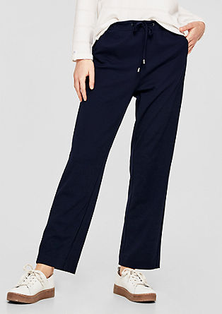 Smart Straight: trousers with a drawstring from s.Oliver