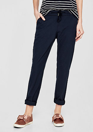 Smart Chino: Trousers with a drawstring and cord from s.Oliver