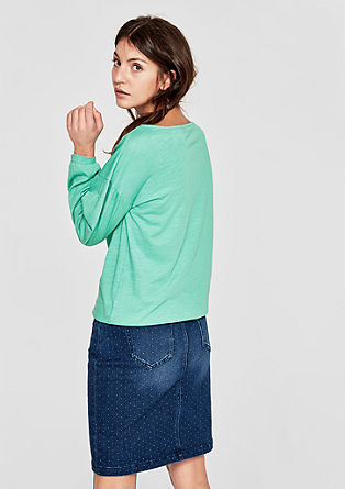 Denim skirt with a washed finish from s.Oliver