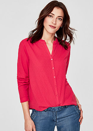 Textured blouse with a frilled collar from s.Oliver