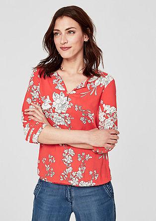 O-shape blouse met florale print