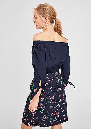 Off-the-shoulder poplin blouse from s.Oliver