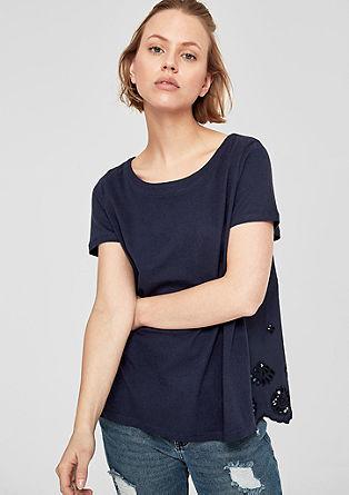 Oversized shirt met opengewerkte kant