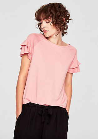 Jersey top with flounce sleeves from s.Oliver