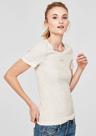 Basic T-shirt with a logo print from s.Oliver