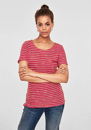 Proužkované tričko s potiskem