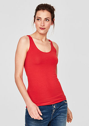 Basic-Top aus Baumwollstretch
