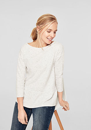 Textured sweatshirt with a peplum from s.Oliver