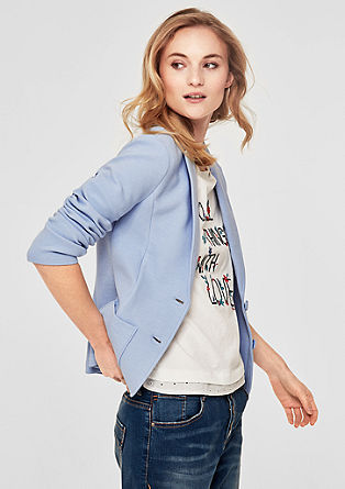 Ribbed sweatshirt blazer from s.Oliver