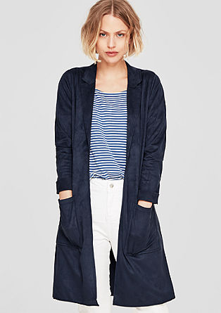 Long faux suede coat from s.Oliver