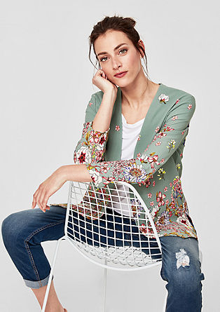 Blouse blazer with a floral pattern from s.Oliver