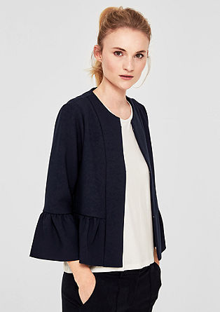 Stretch blazer with a peplum from s.Oliver