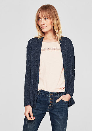 Long-Cardigan aus Fancygarn
