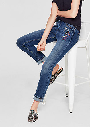 Smart Straight: Emboidery-Jeans