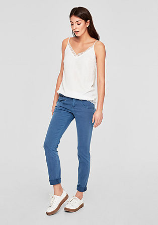 Shape Slim: garment-dyed jeans from s.Oliver