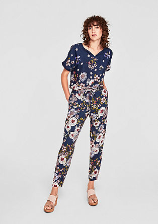 Jumpsuit with a floral pattern from s.Oliver
