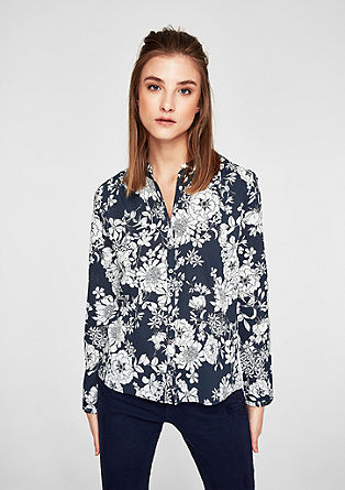 Lightweight tunic with a floral print from s.Oliver
