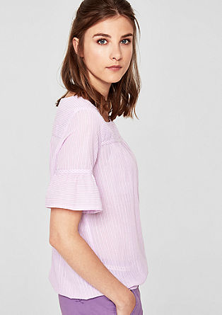 Oversize-Bluse mit Ajour-Muster
