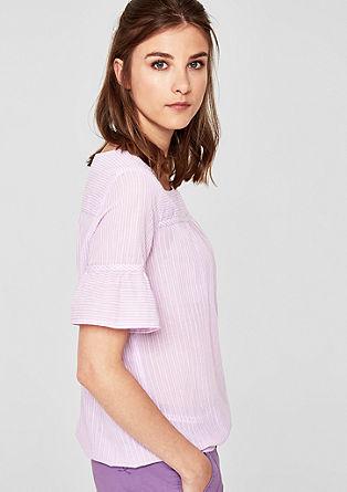 Oversize-Bluse mit Lochstickerei