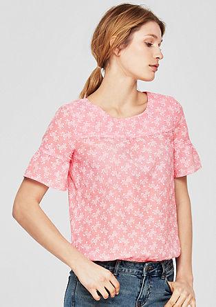 Luftige Bluse mit floralem Print