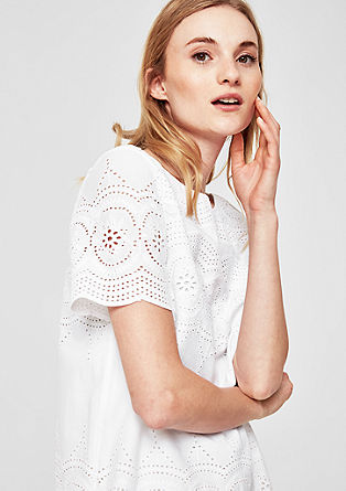 Cotton lace blouse top from s.Oliver