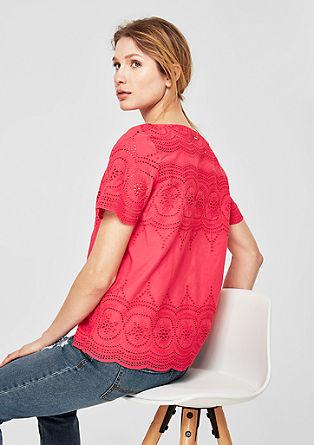 Halenkové tričko z bavlněné krajky