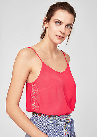 Strappy top with lace from s.Oliver