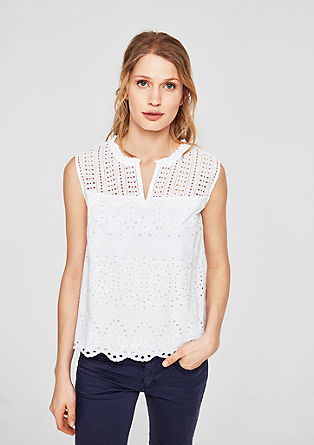 Broderie anglaise blouse top  from s.Oliver