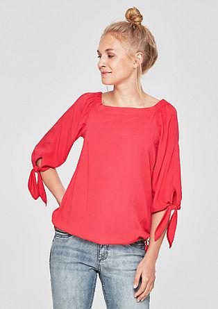 Off Shoulder-Bluse mit Knoten-Details