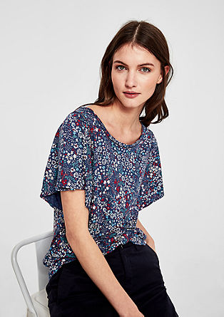 Jersey top with a floral print from s.Oliver