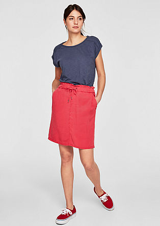 Slub Yarn-Shirt mit Lochbordüre