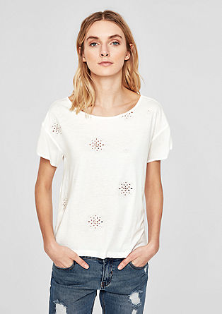Shirt mit Embroidery-Muster