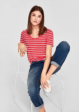 Striped linen top from s.Oliver