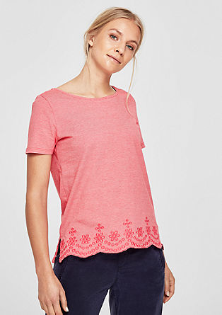 T-shirt with hem embroidery from s.Oliver
