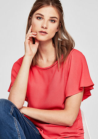 Viskózové tričko svolánovými rukávy