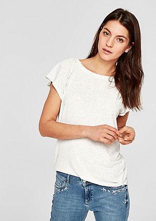 Jersey shirt met wijde mouwen