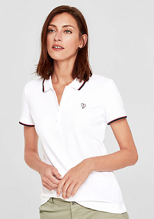 Poloshirt aus Stretch-Piqué