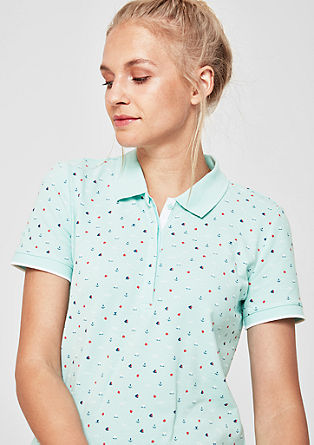 Polo shirt with a minimalist print from s.Oliver