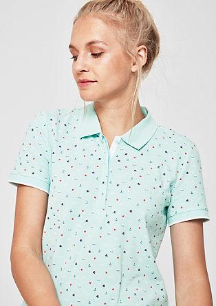 Poloshirt mit Minimalprint