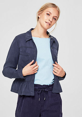 Lightweight jacket with a flounce hem from s.Oliver