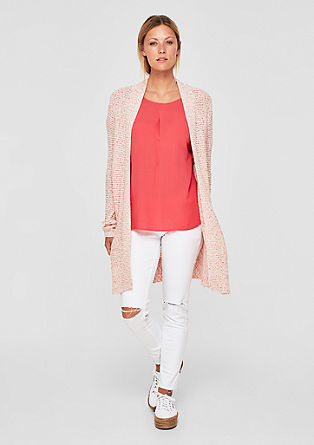 Long melange knit cardigan from s.Oliver