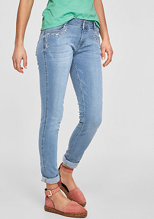 Shape superskinny: denim met borduursel