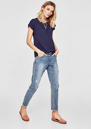 Casual Bowleg: Denim im Used-Look